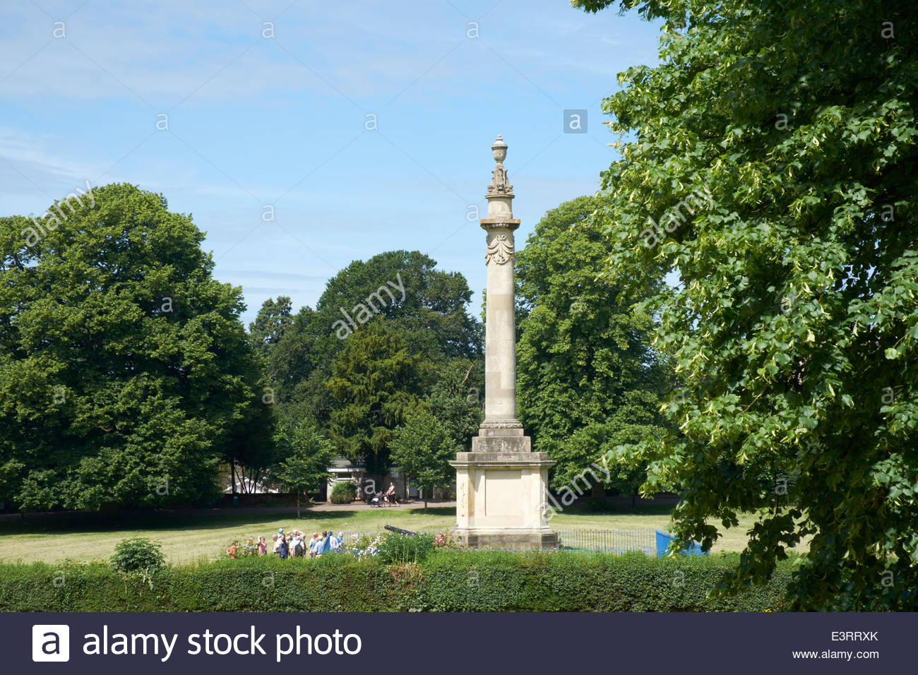 Nelson Memorial column, Hereford erected in 1809 No statue on  top due to lack of money Nelson made a freeman of Stock Photo