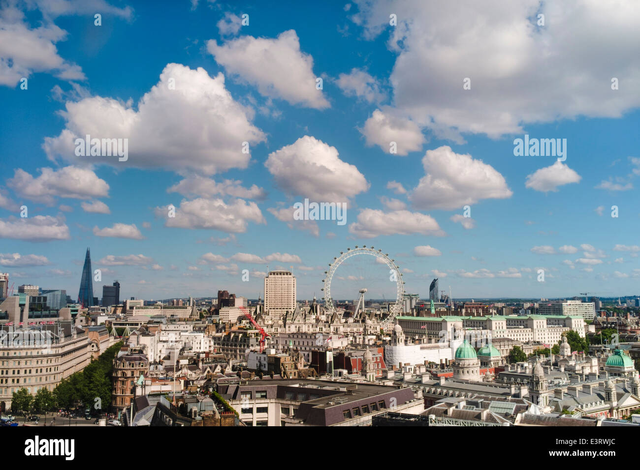 View  across Westminster,  London, UK - Stock Image