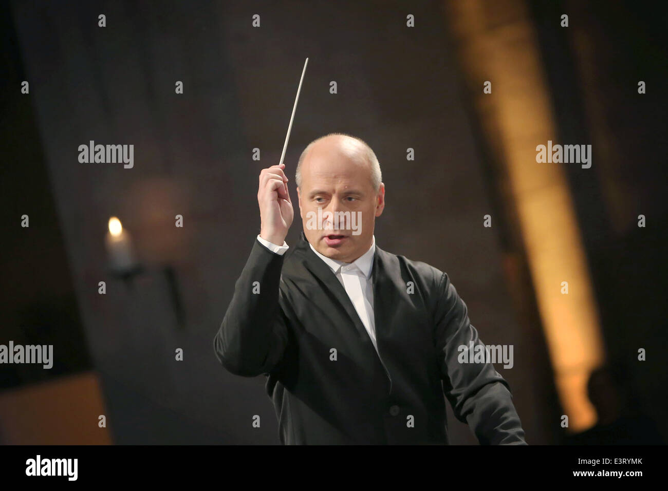 Eltville, Germany. 27th June, 2014. The hr-Sinfonieorchester radio orchestra of the public broadcasting network - Stock Image