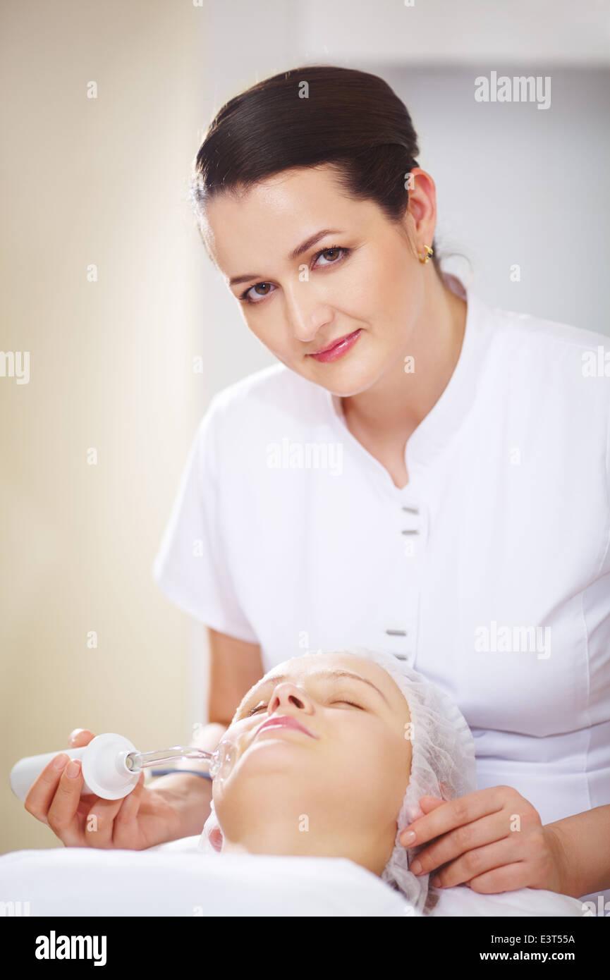 Anti-aging treatment  at beauty salon - Stock Image