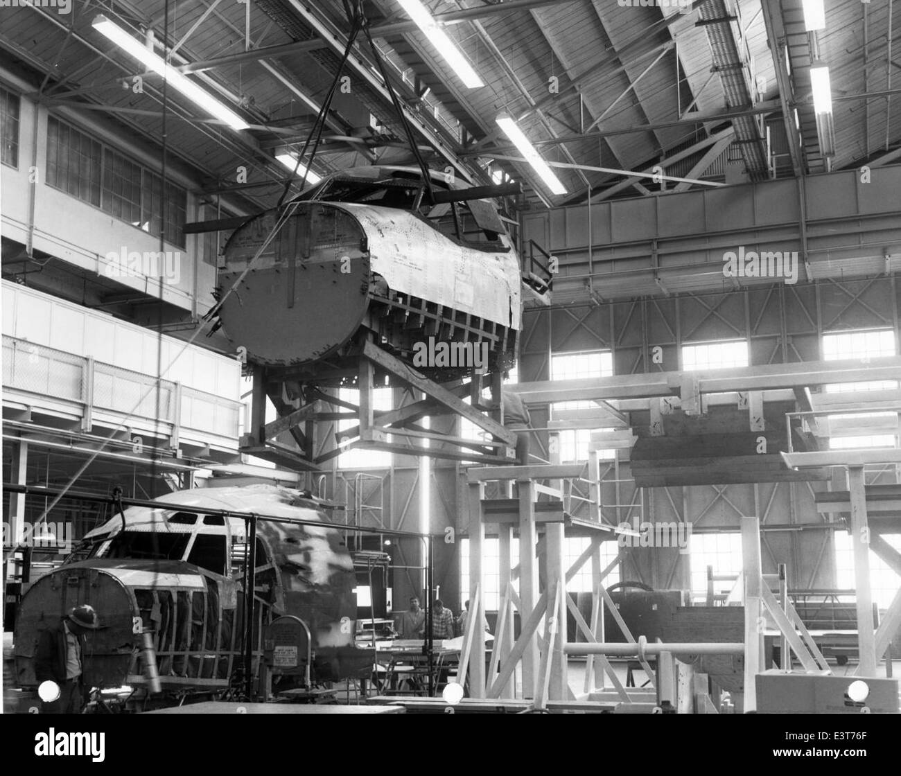Convair, fuselage stress tests - Stock Image