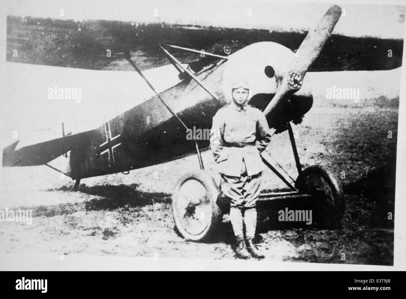 Fokker and Pilot Stock Photo