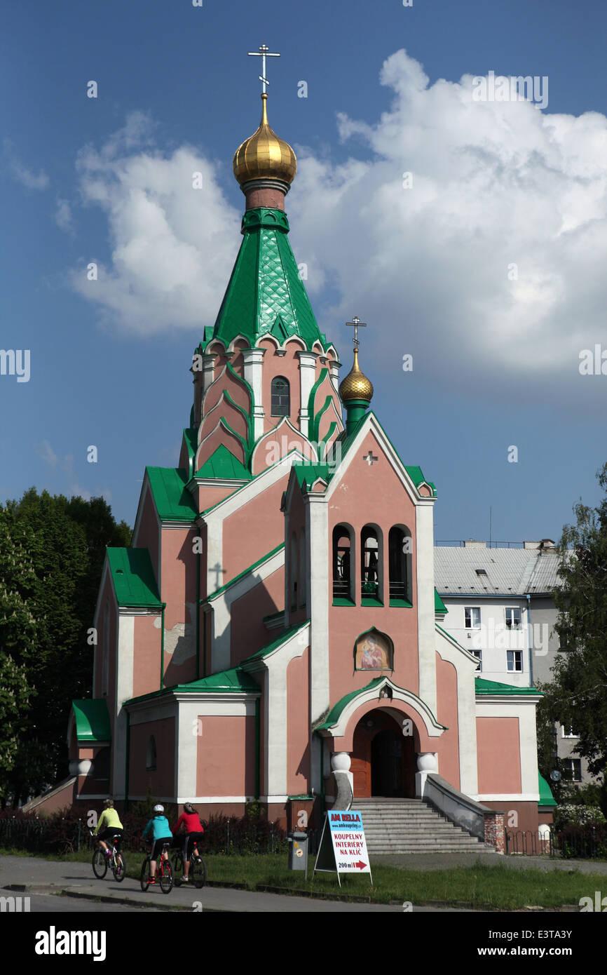 Saint Gorazd's Church in Olomouc, Czech Republic. - Stock Image