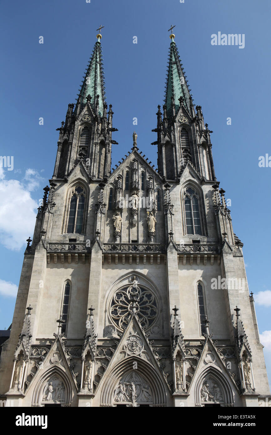 Saint Wenceslas' Cathedral in Olomouc, Czech Republic. - Stock Image