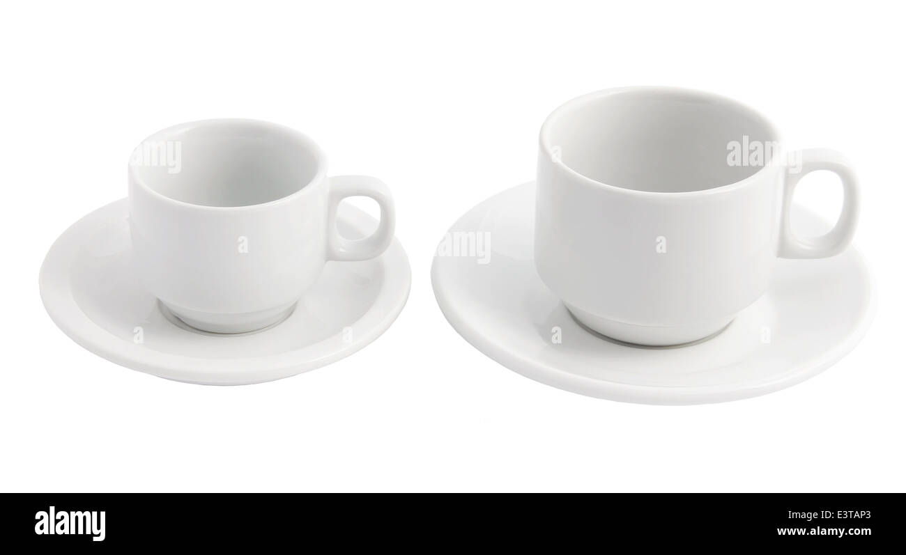 Teacups and Saucers - Stock Image