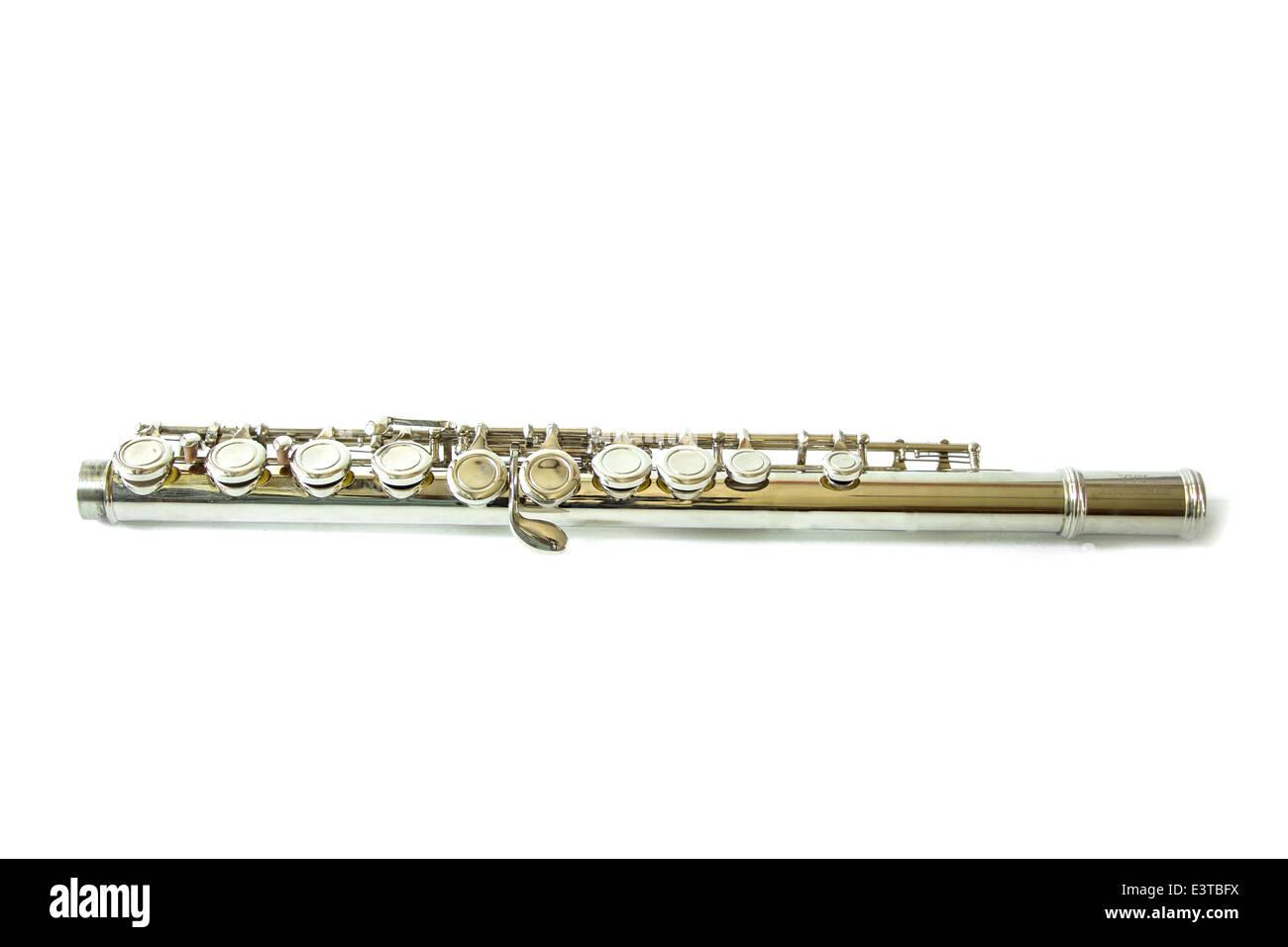 Flute isolate on white background - Stock Image