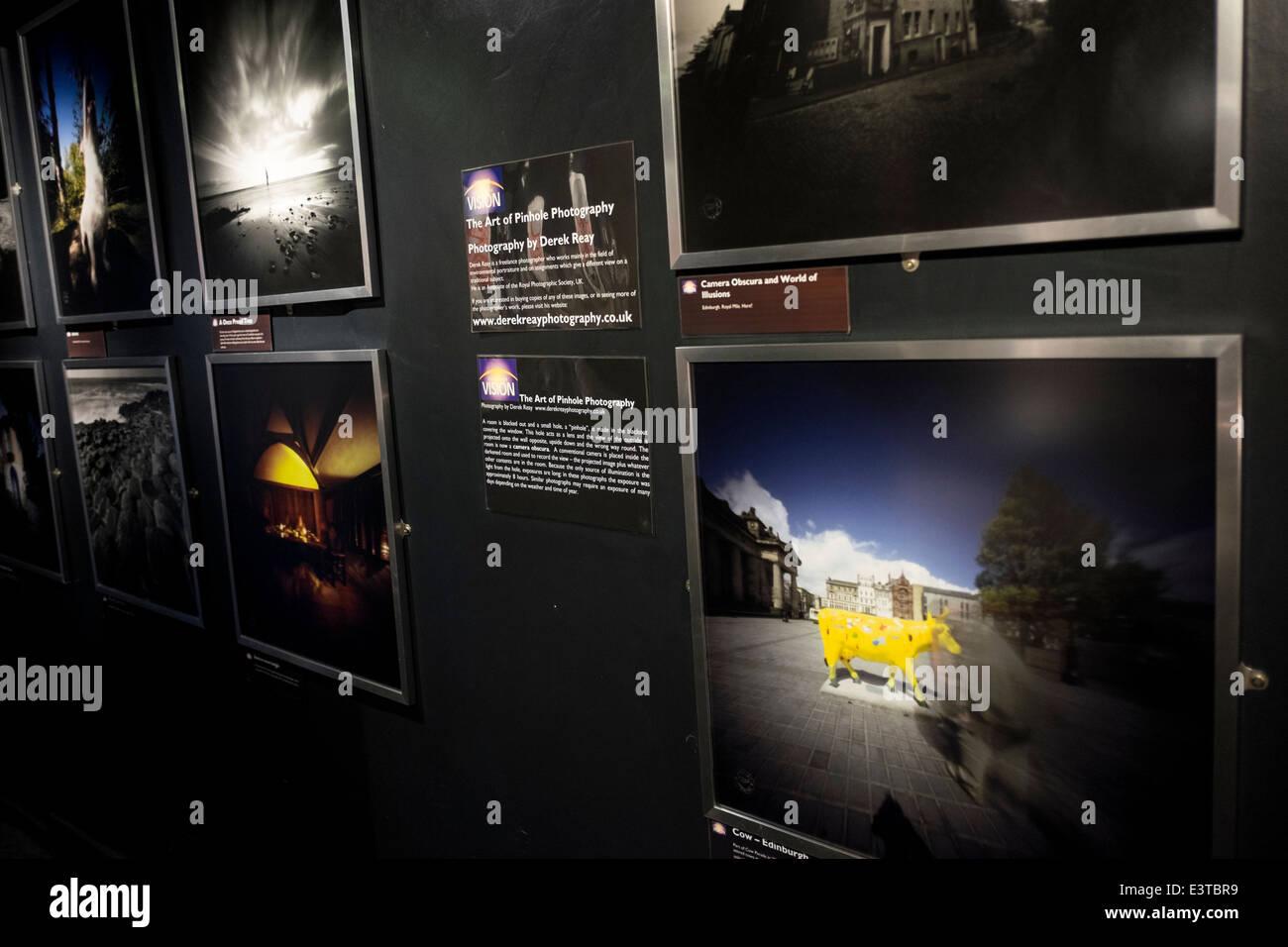 Edinburgh's Camera Obscura and World of Illusions - Stock Image
