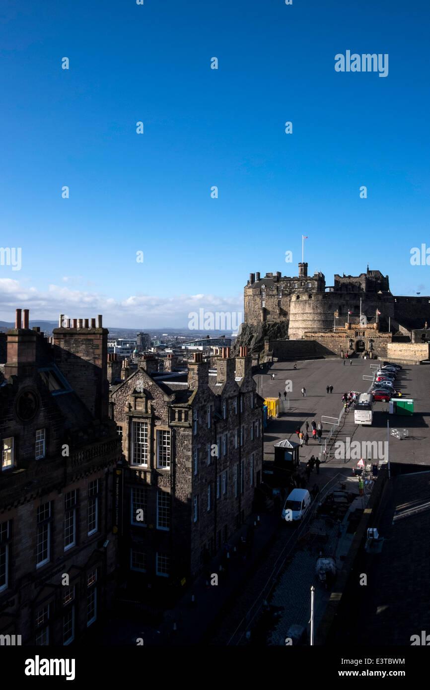 Edinburgh's Castle view from Camera Obscura building Stock Photo