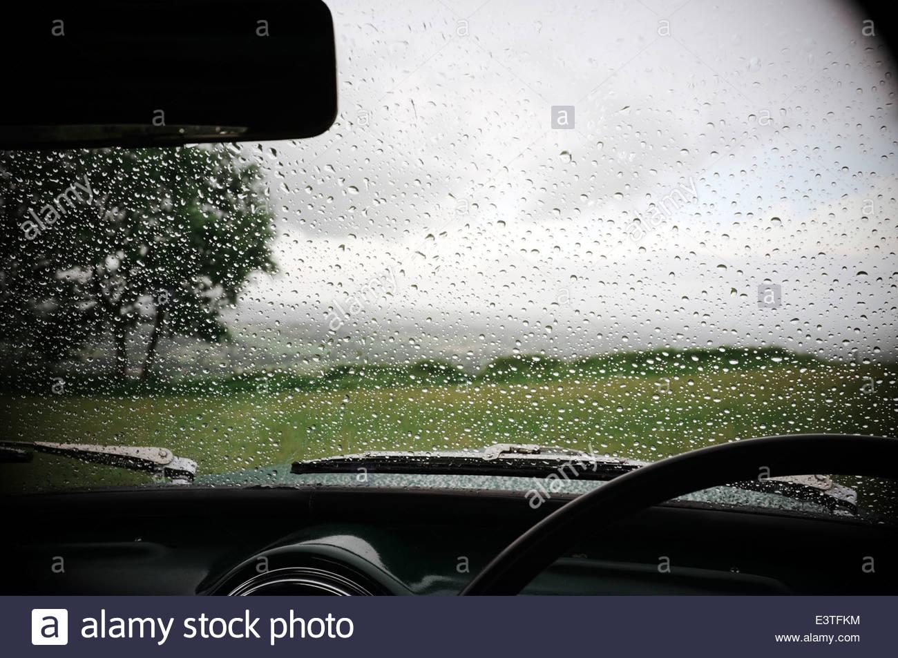 Rain On Car Window Stock Photos & Rain On Car Window Stock