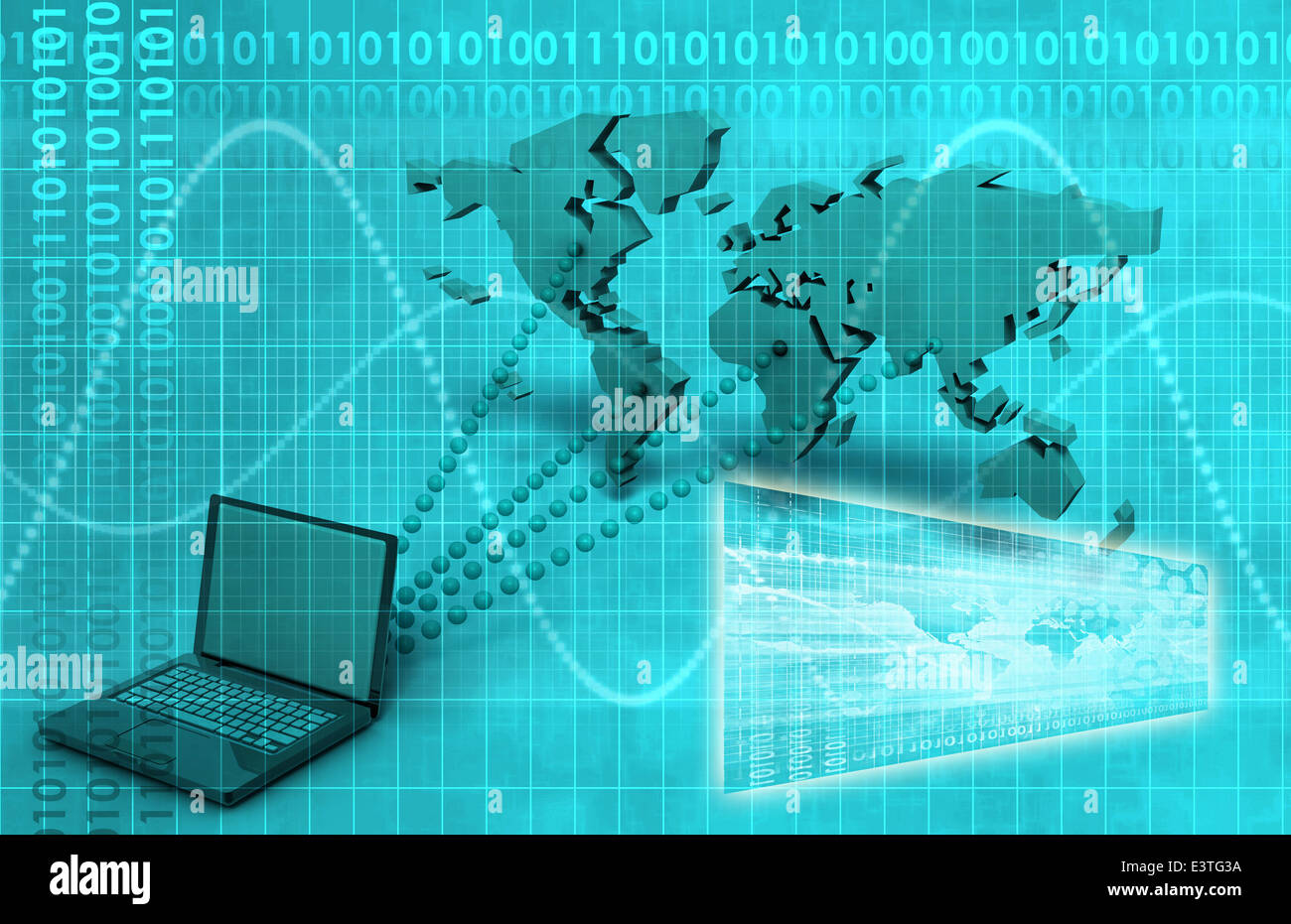 broadcast engineering and online tracker as art stock photo
