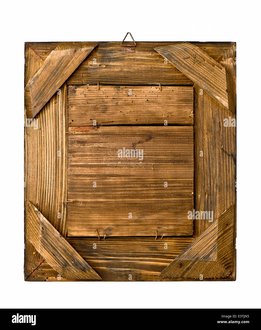 Merveilleux Aged Rustic Wooden Frame On White Background