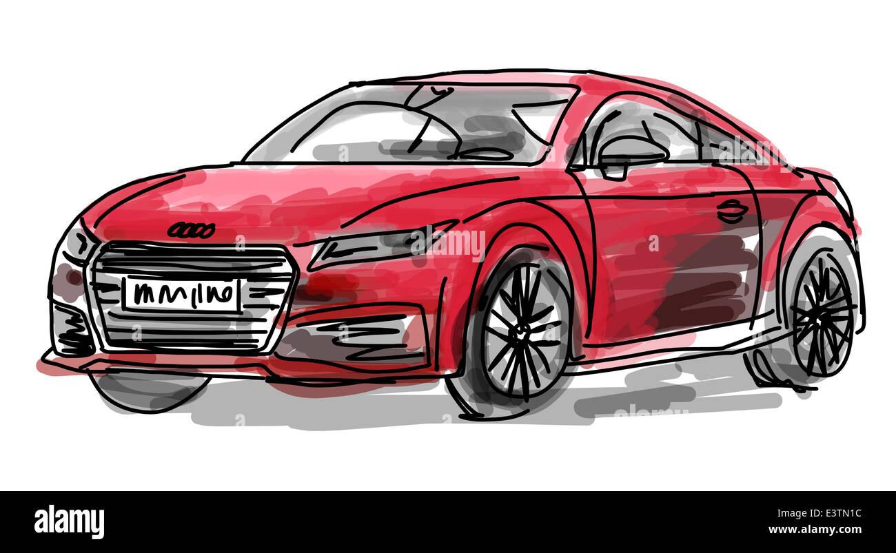 Illustration Of An Audi Car Stock Photo 71228792 Alamy