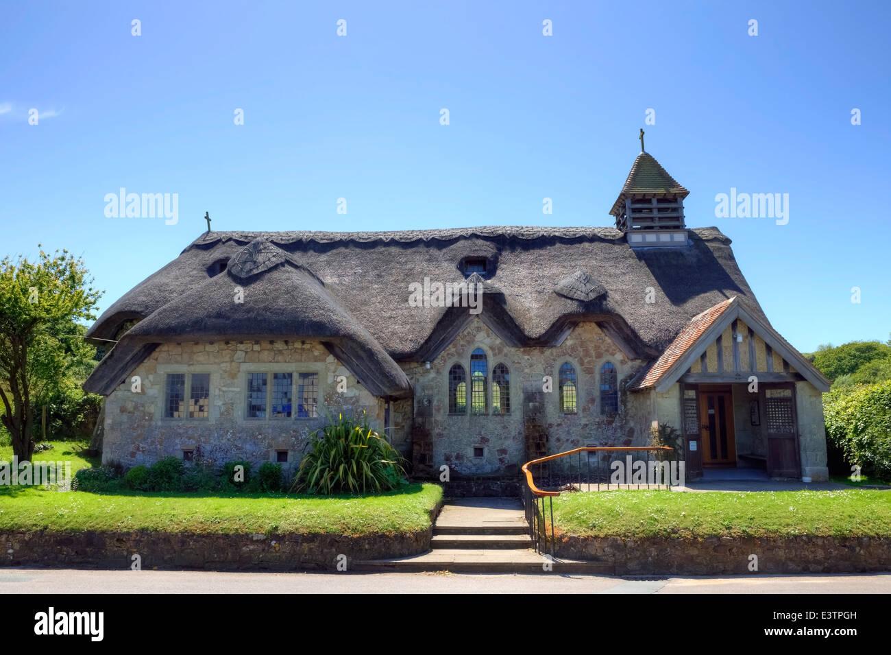 St Agnes church, Freshwater, Isle of Wight, England, United Kingdom - Stock Image