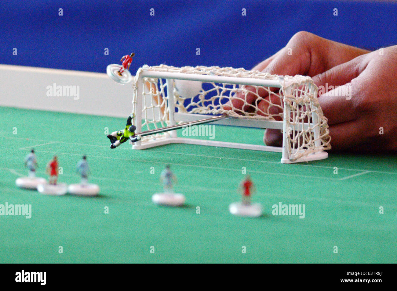 Singapore. 29th June, 2014. A table football enthusiast participates in the National Championships in Singapore's - Stock Image
