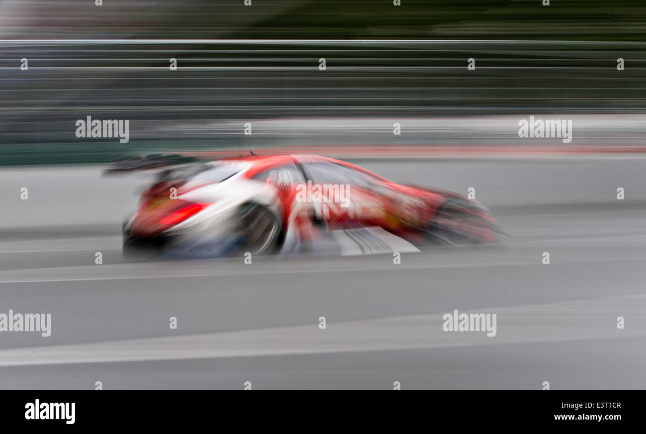Nuremberg, Germany. 29th June, 2014. Russian driver Vitaly Petrov (Mercedes AMG) in action in his Mercedes AMG C - Stock Image