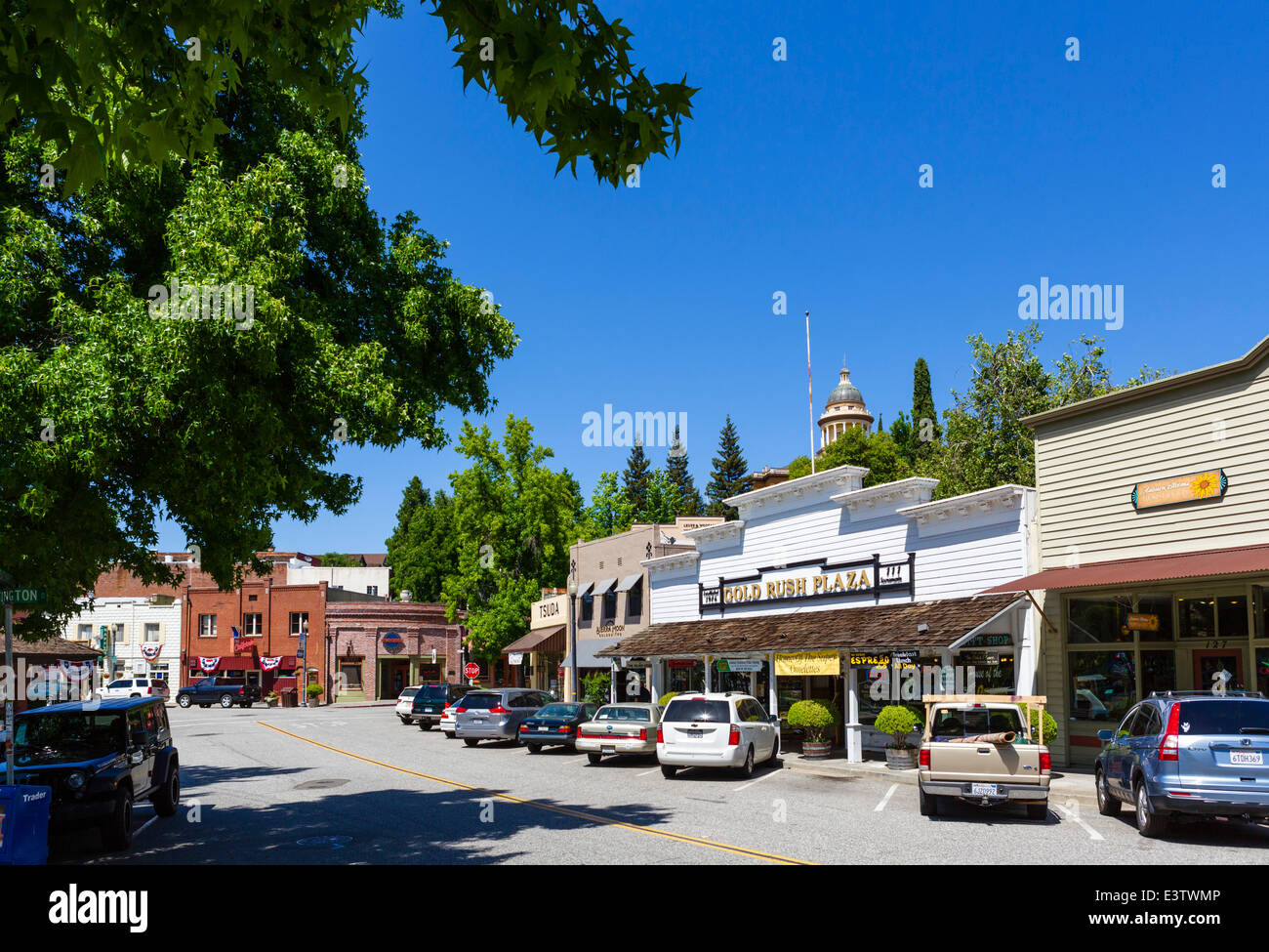 Sacramento Street in the old gold mining town of Auburn, Placer County, 'Mother Lode' Gold Country, California, - Stock Image