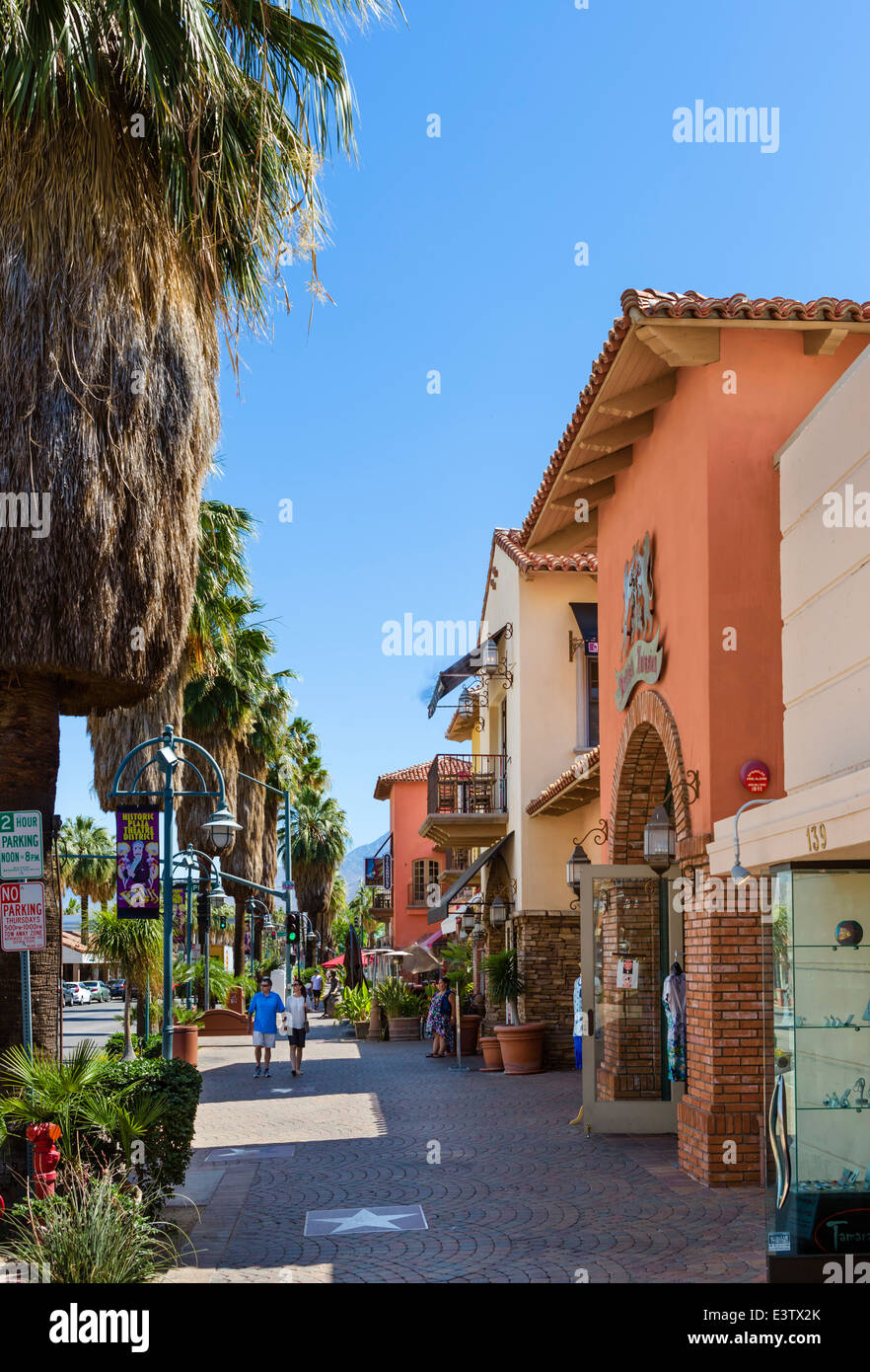 Shops And Restaurants On S Palm Canyon Drive In Downtown