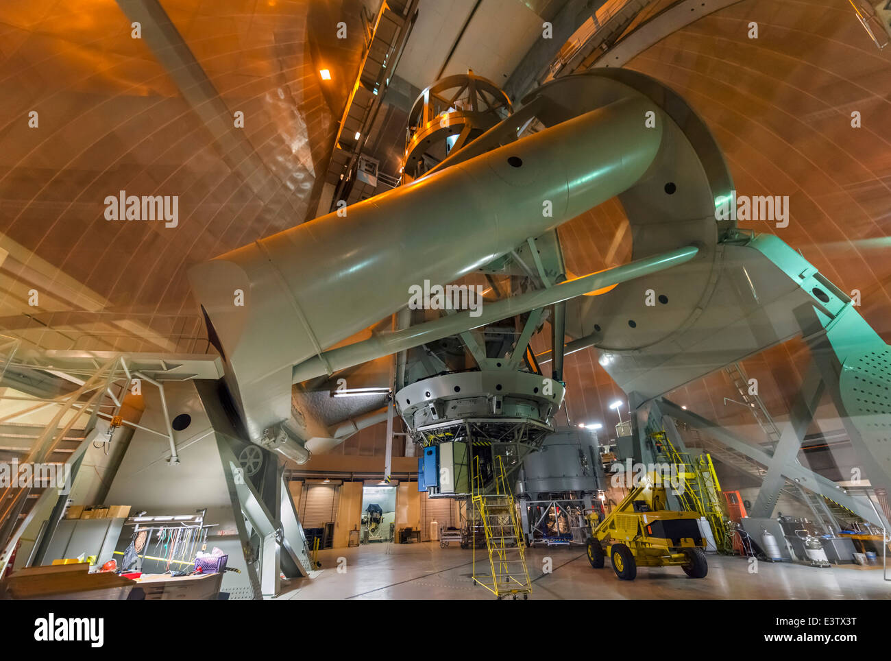 Interior of the 200 inch Hale Telescope at the Palomar Observatory, San Diego County, California, USA - Stock Image