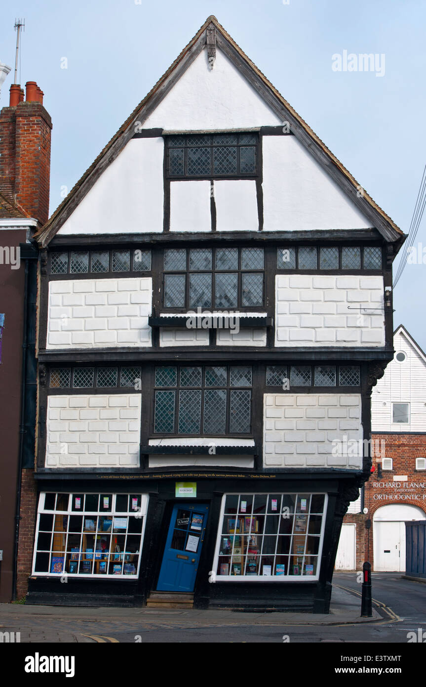 old king's school shop bookshop Canterbury - Stock Image