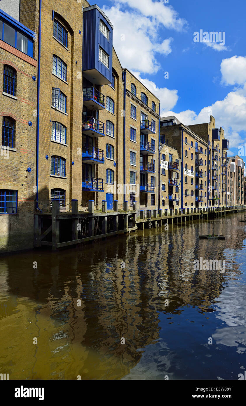 Wharf conversion apartments, Shad Thames, SE1 London, United Kingdom - Stock Image