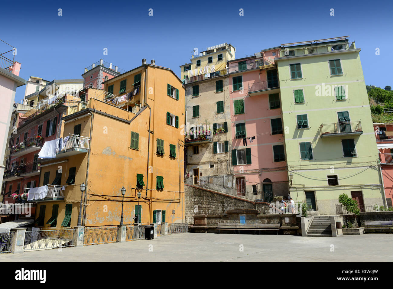 Italian houses apartments at Riomaggiore on the Cinque ...