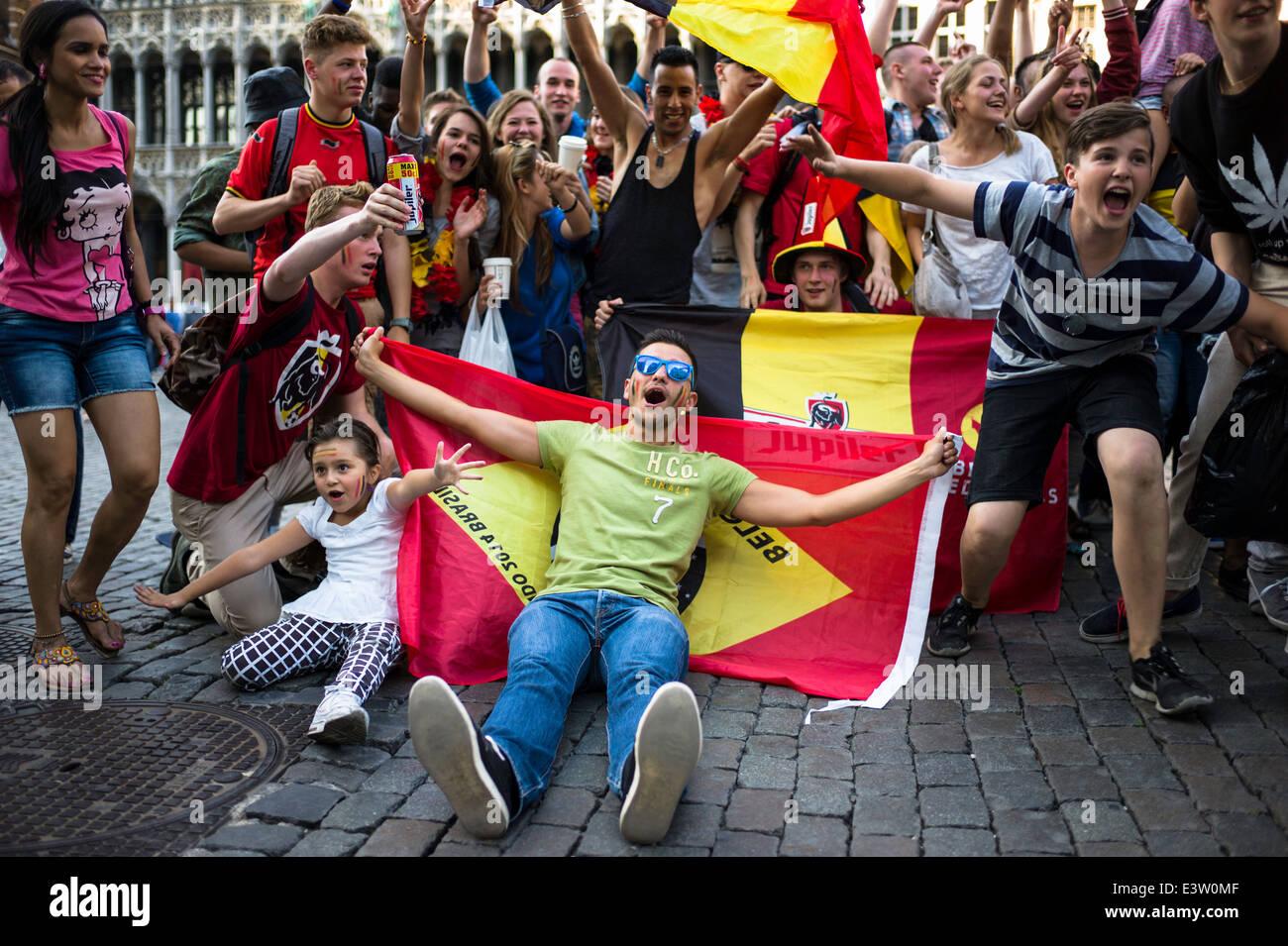 Belgium wins world cup playoff - Stock Image