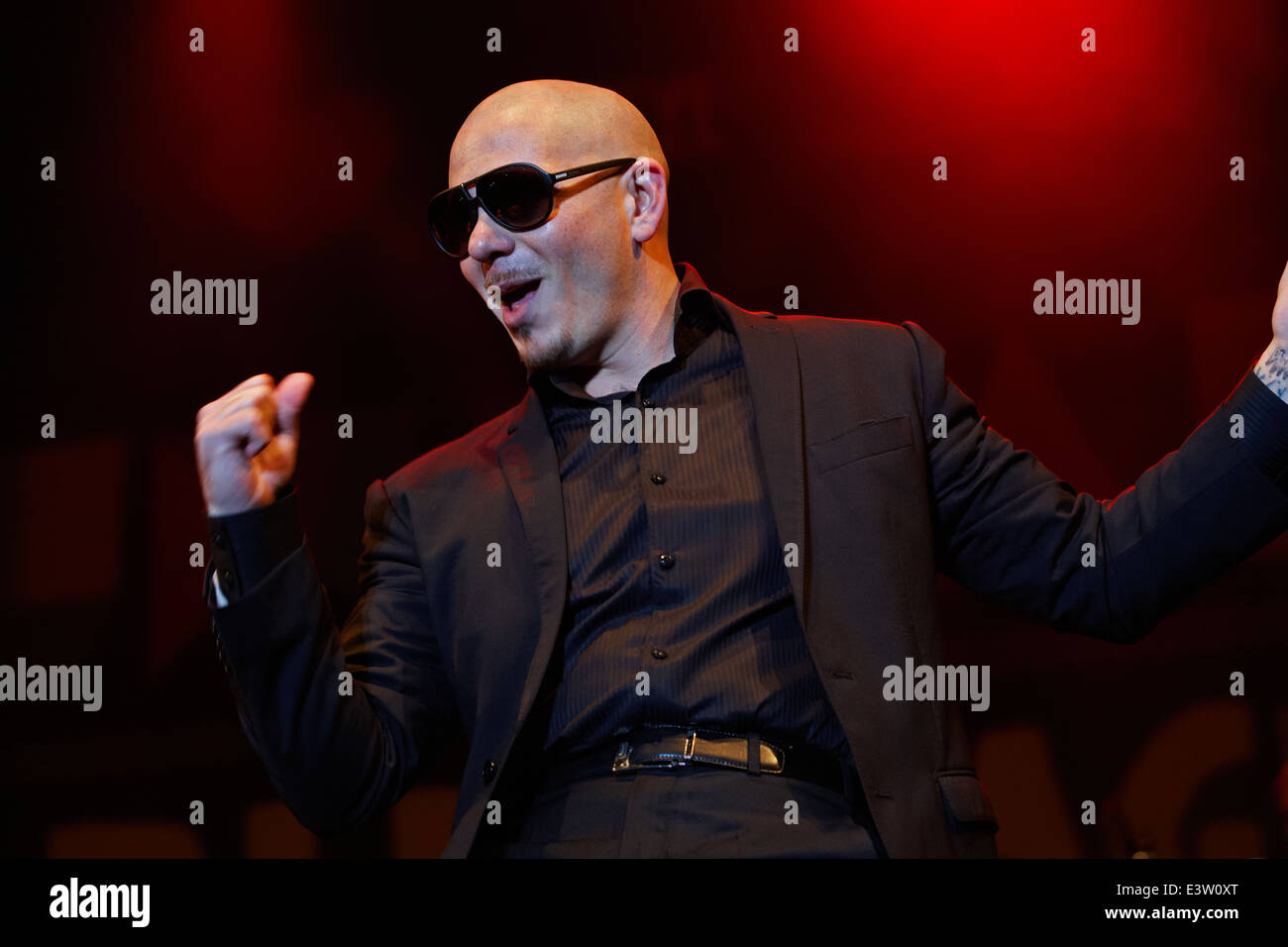 Armando Christian Pérez, known by the stage name Pitbull in concert, Pitbull live on stage - Stock Image