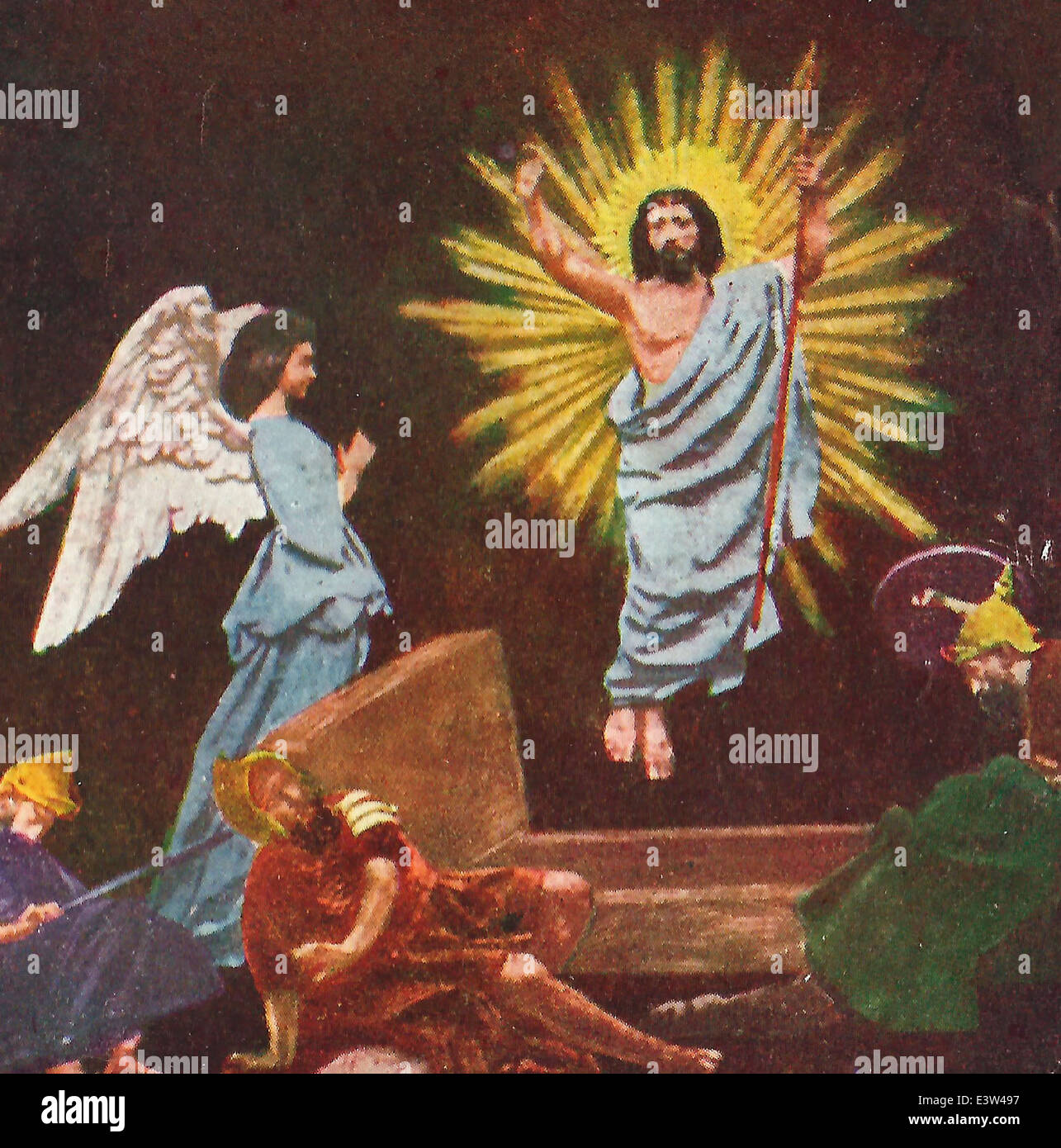 The Resurrection - Jesus Christ rises from the dead - Stock Image
