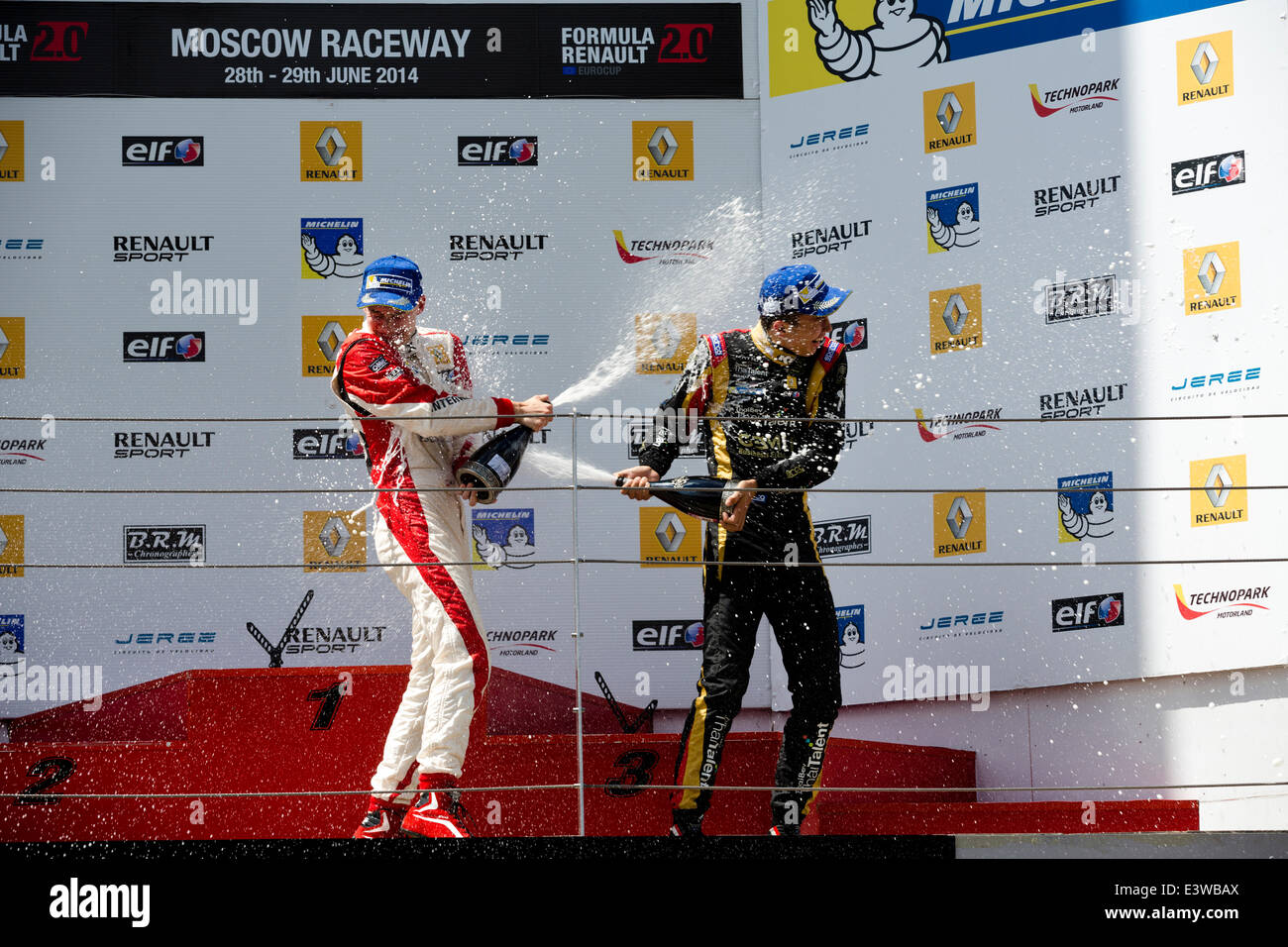 The World series by Renault Eurocup Formula Renault 2.0 and 3.5 in round on Moscow Raceway on 29 of June 2014, Russia - Stock Image