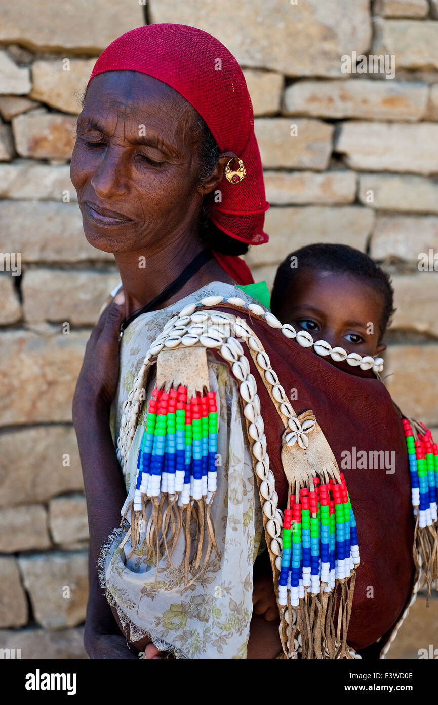 Mother and child ( Ethiopia) - Stock Image