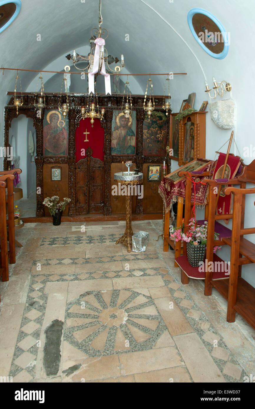 Griechenland, Symi, Agios Christopheros, Klosterkirche - Stock Image