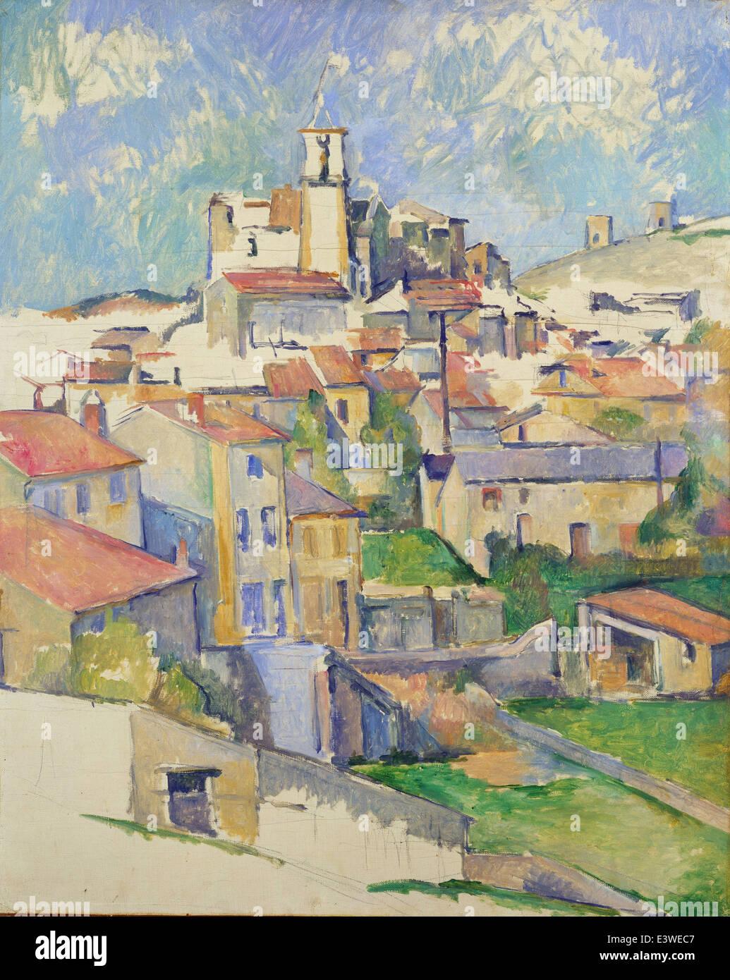 Paul Cézanne - Gardanne - 1886 - MET Museum - New-York - Stock Image