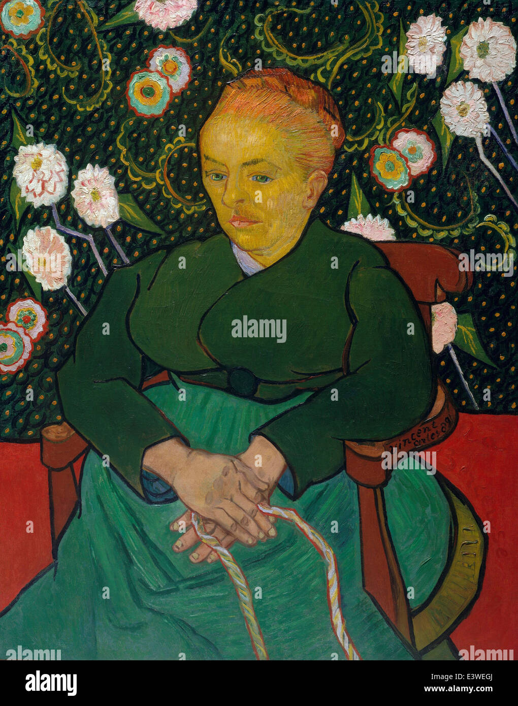 Vincent van Gogh - La Berceuse - 1889 - MET Museum - New-York - Stock Image