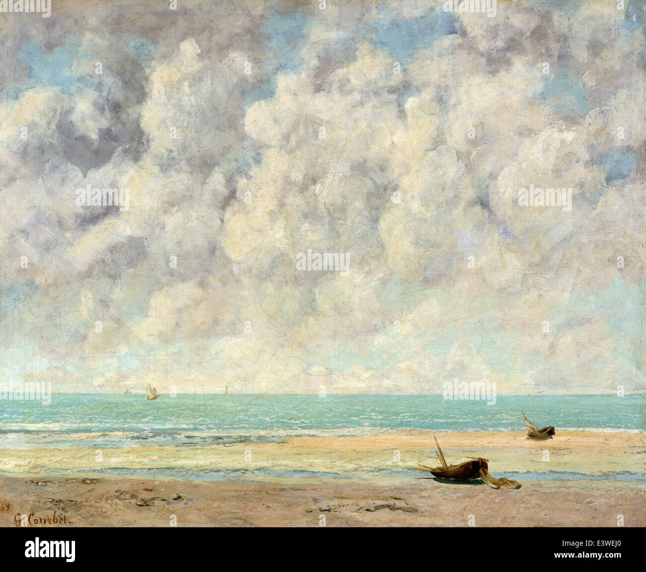 Gustave Courbet - The Calm Sea - 1869 - MET Museum - New-York - Stock Image