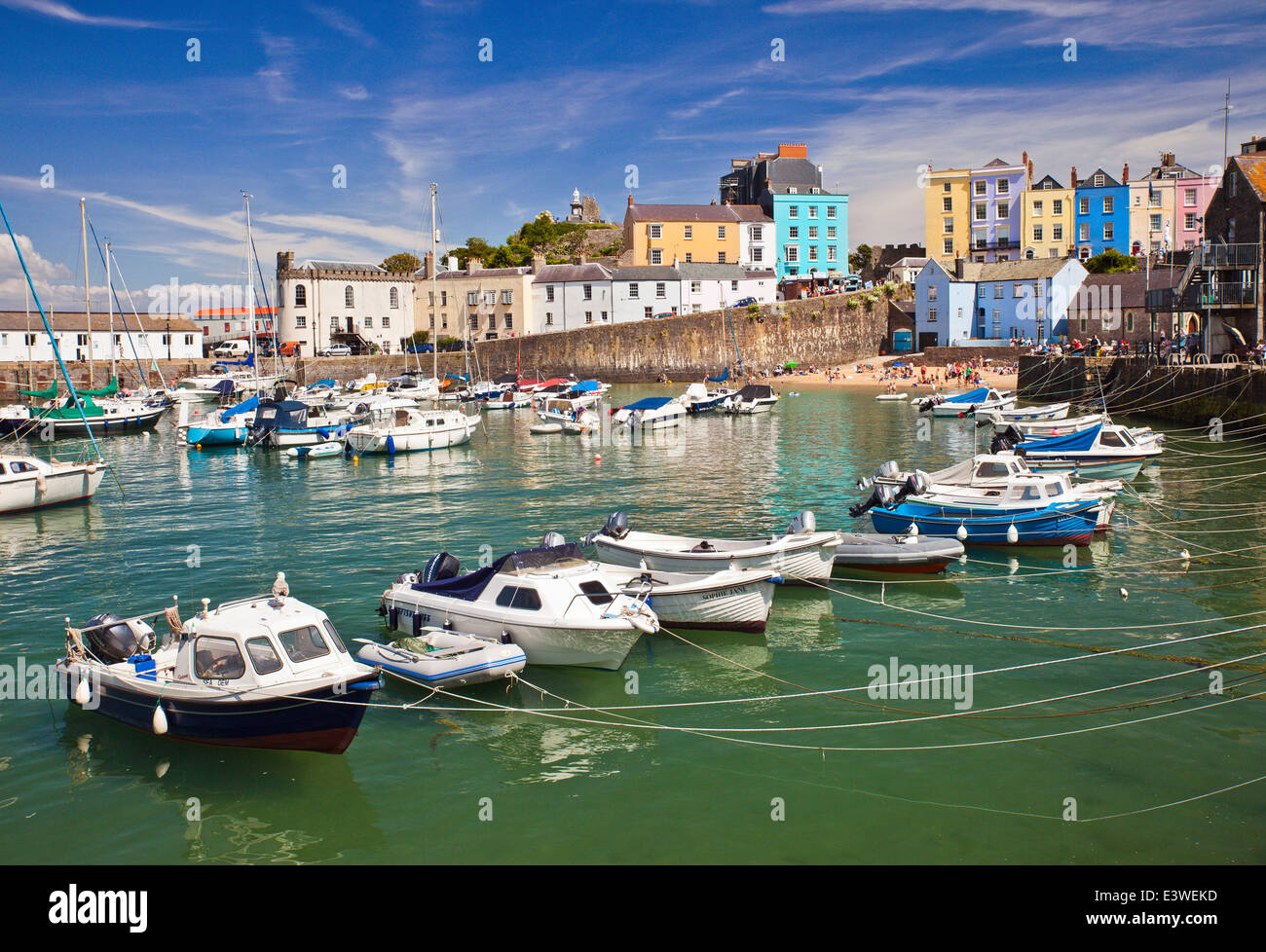 Tenby harbour. - Stock Image