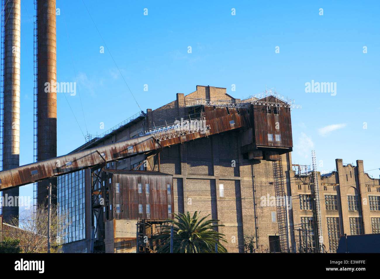 white bay power station which is now heritage listed and no longer used to generate power for the Sydney rail network, - Stock Image