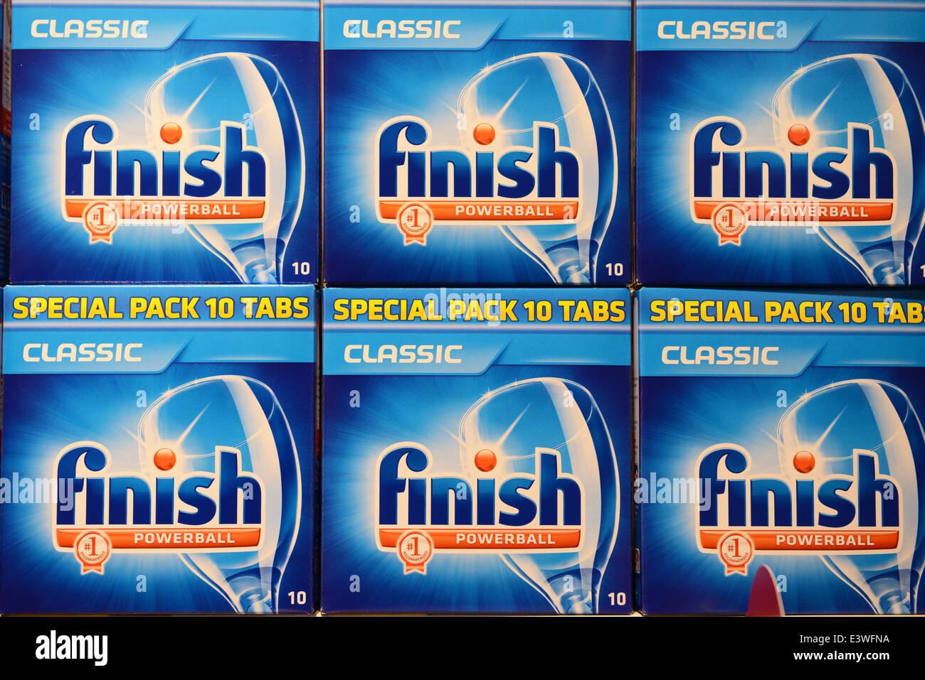 Finish Powerball Dishwashing Tablets - Stock Image
