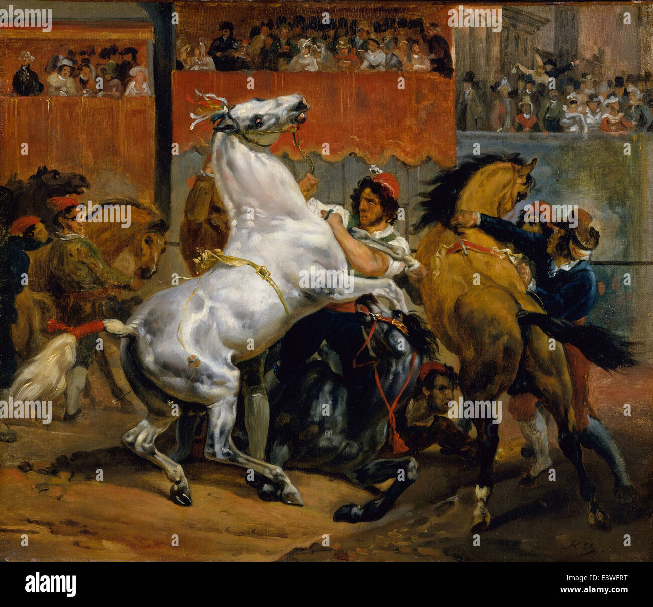 Horace Vernet - The Start of the Race of the Riderless Horses - 1820 - MET Museum - New-York - Stock Image