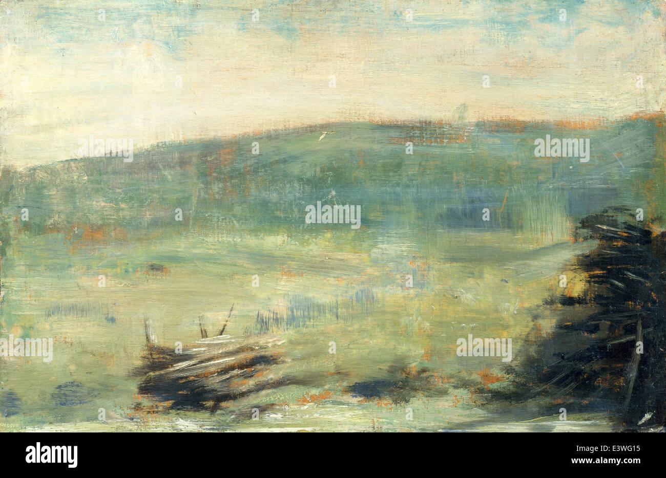 Georges Seurat - Landscape at Saint-Ouen - 1879 - MET Museum - New-York - Stock Image