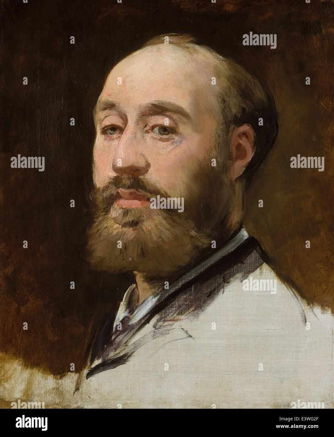 Édouard Manet - Head of Jean-Baptiste Faure - 1883 - MET Museum - New-York - Stock Image