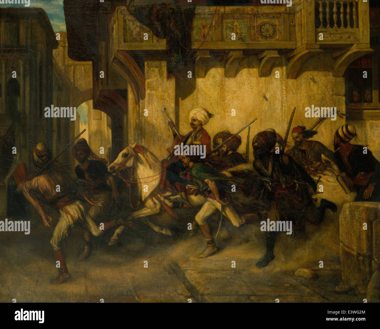 Alexandre-Gabriel Decamps - The Night Patrol at Smyrna - MET Museum - New-York - Stock Image