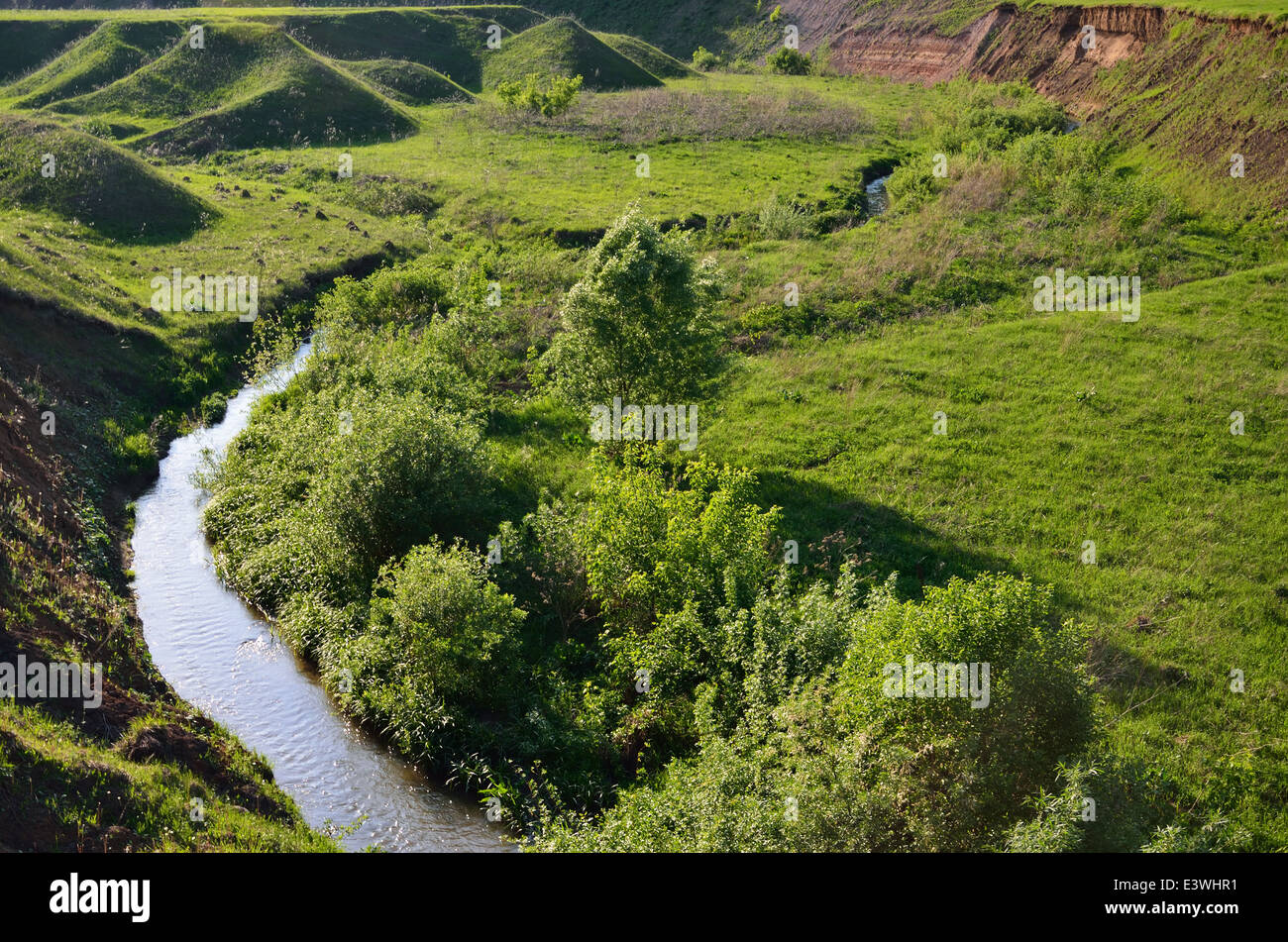 Canyon of the twisting river - Stock Image
