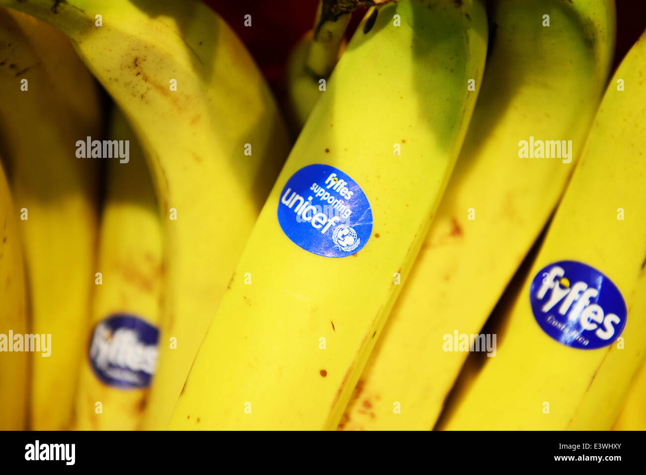 Fyffes Bananas, supporting unicef - Stock Image
