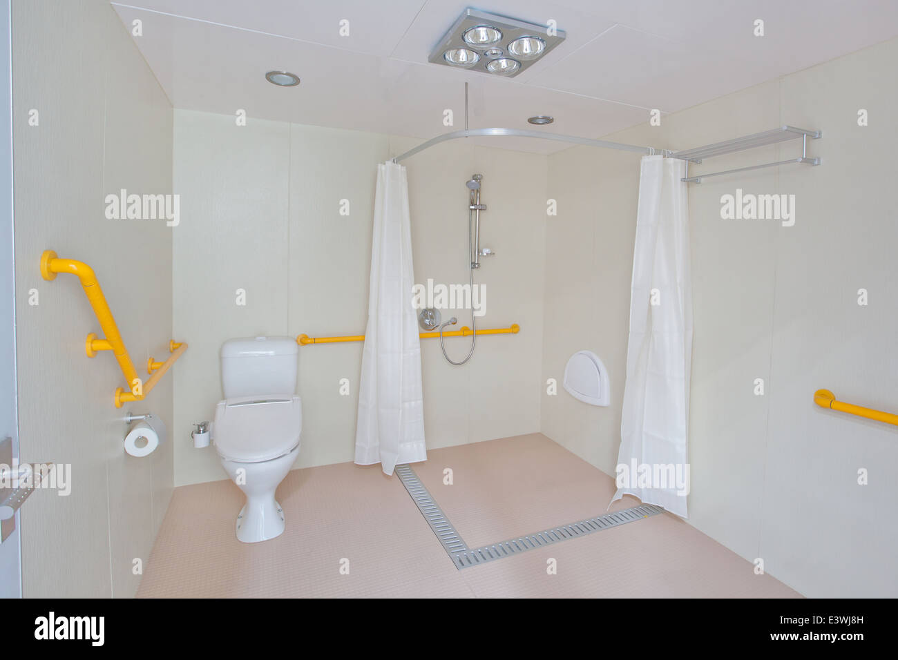 disabled clean compact modern bathroom new commercial. including ...