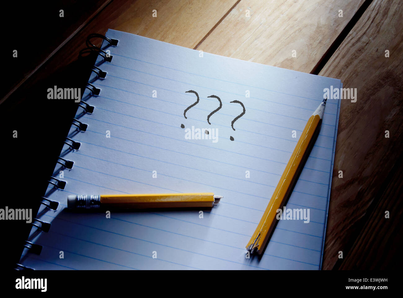 Writers block - Stock Image