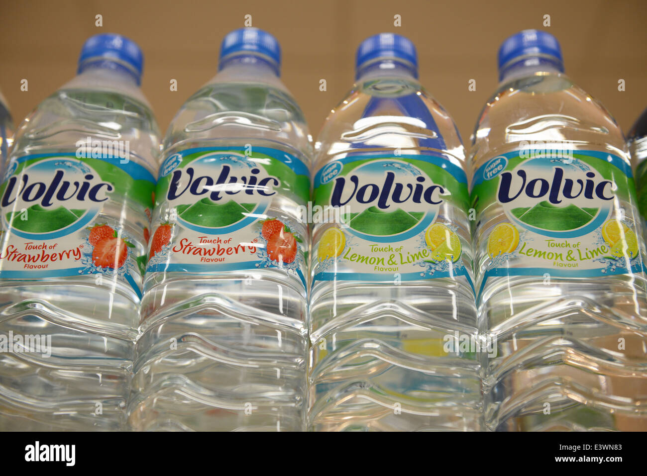 Volvic flavoured mineral water - Stock Image