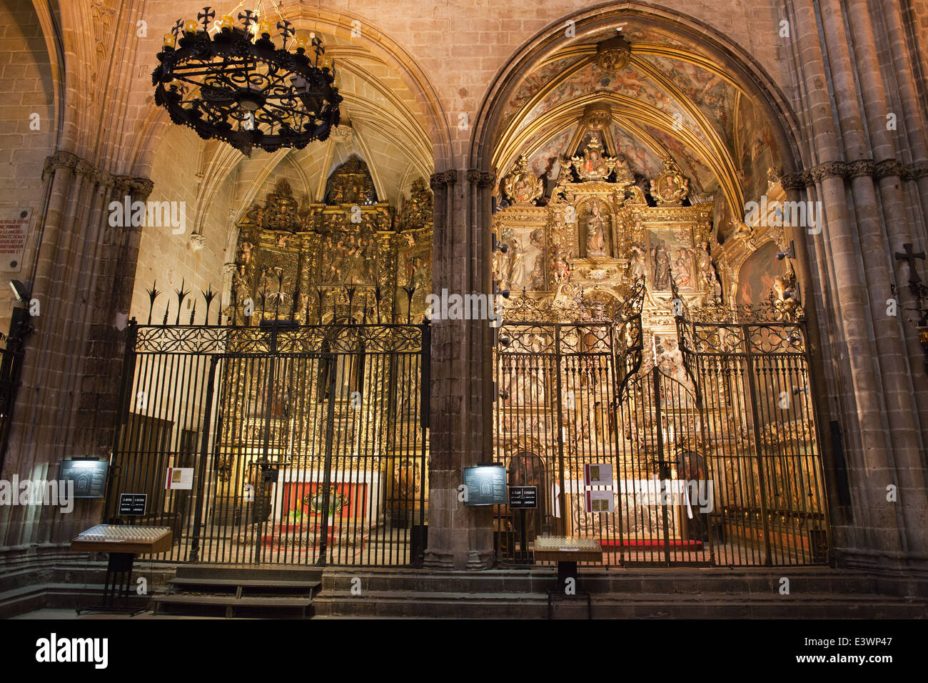 Chapels of Saint Sever and Saint Marc in the Barcelona Cathedral in Catalonia, Spain. - Stock Image