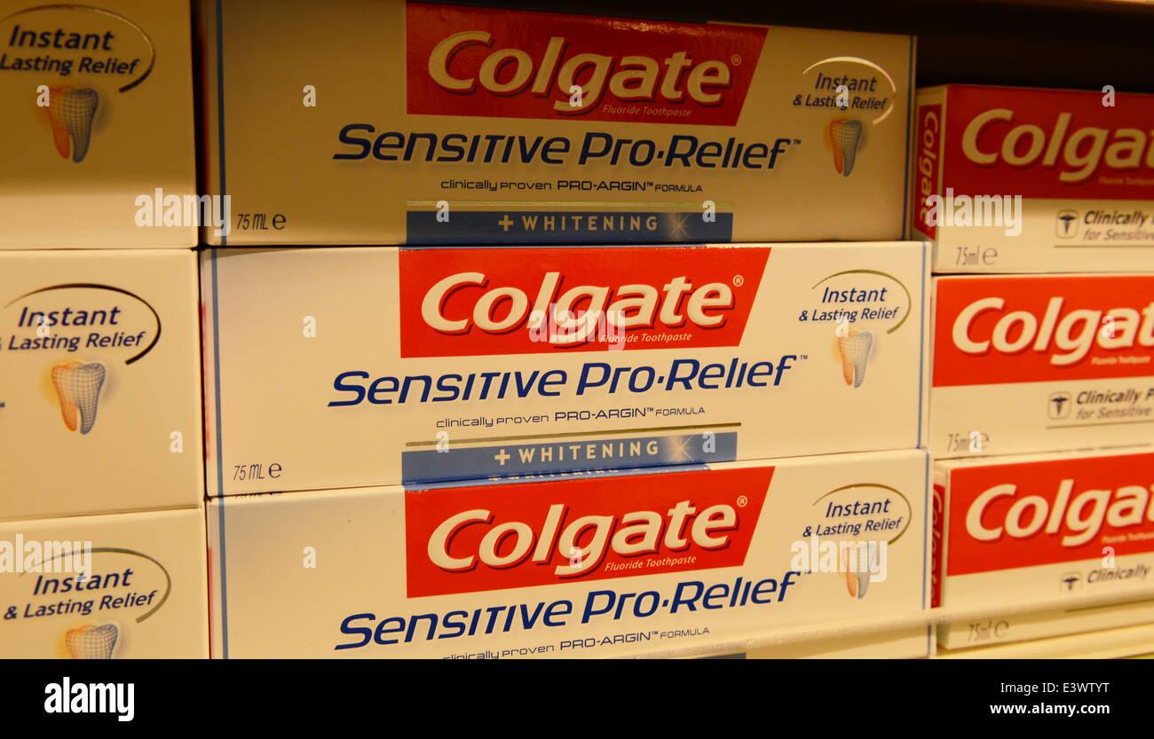 Colgate sensitive toothpaste - Stock Image