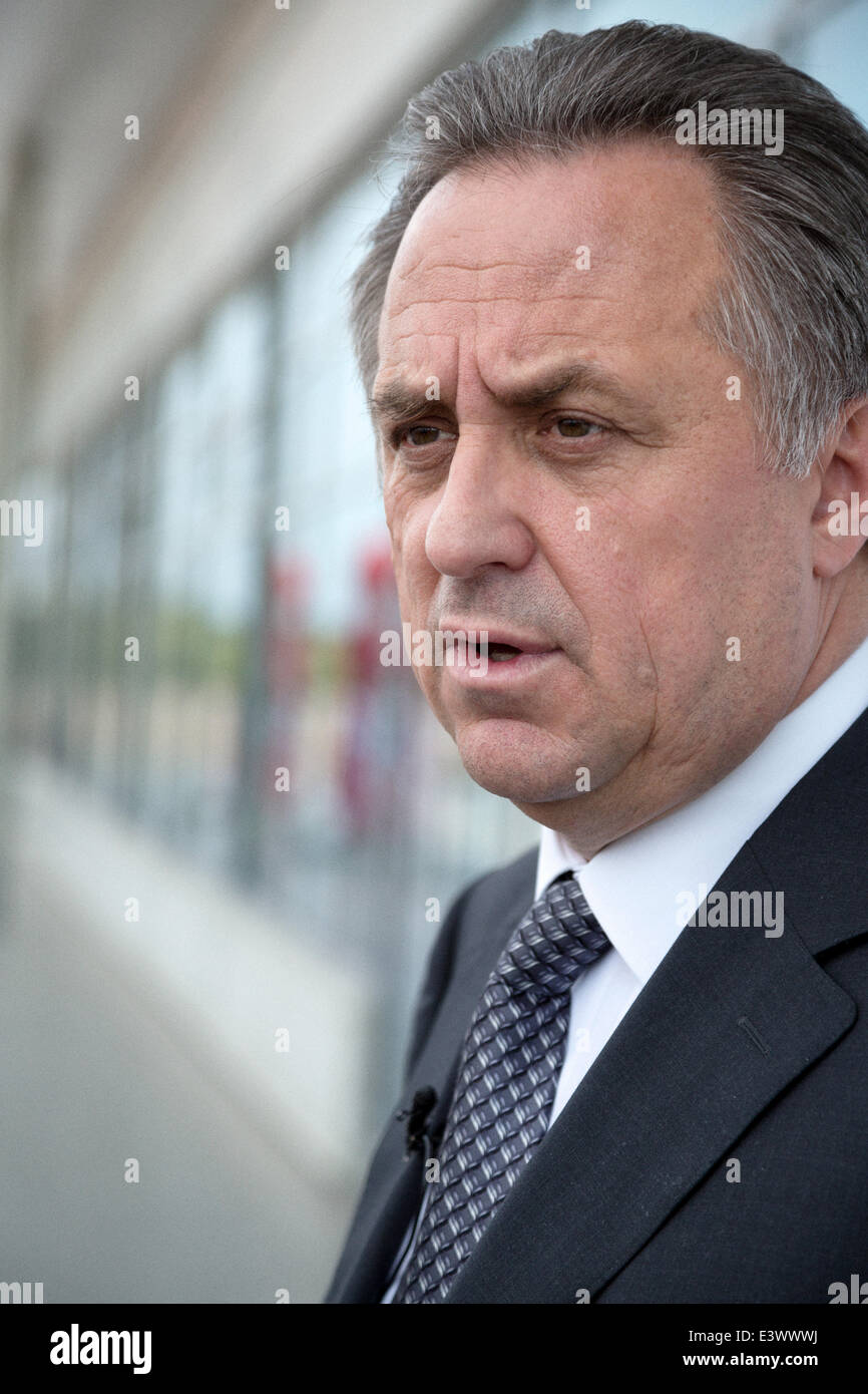 Russia. 30th June, 2014. Vitaly Mutko - Minister of Sport, Tourism and Youth policy of Russian Federation speaking - Stock Image