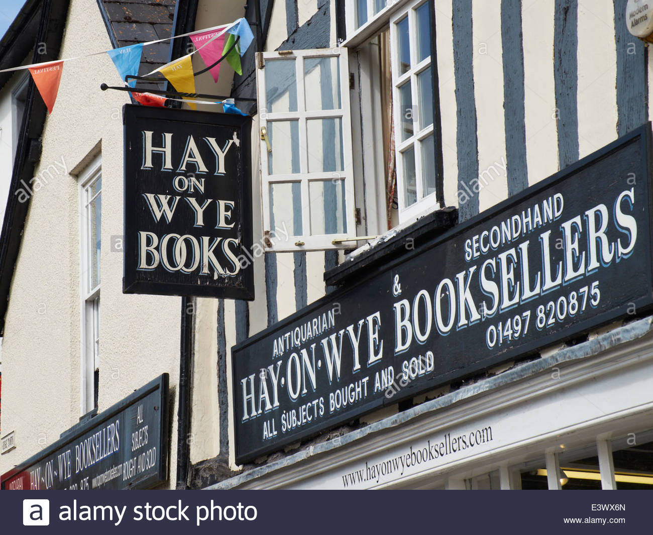 Hay-on-Wye - the book town - Stock Image